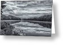 Ct River Putney Bw Greeting Card