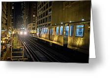 Cta Meet At The State-lake Street Station Chicago Illinois Greeting Card