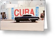 Cuba Car Greeting Card