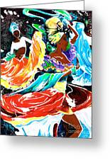 Cuban Dancers - Magical Rhythms... Greeting Card