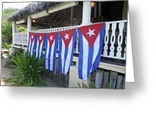 Cuban Flags Greeting Card