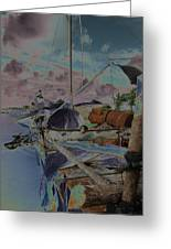 Cuban Refugee Raft  3 Greeting Card