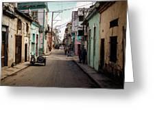 Cuban Street Greeting Card