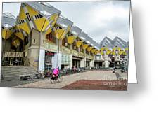 Cube Houses In Rotterdam Greeting Card