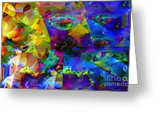 Cubed Fractals Greeting Card