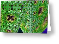 Cubes In Green Greeting Card