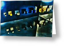 Cubes Reflection Greeting Card