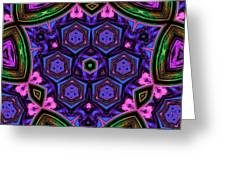 Cubic Kaleidoscope Greeting Card