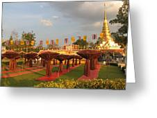 cubicles of Thai monk Greeting Card