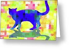 Cubist Cat Greeting Card