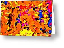 Cubist Tesseract Greeting Card
