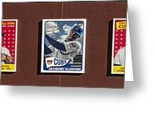 Cubs Card Collection Greeting Card
