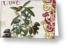 Cucina Italiana Olives Greeting Card