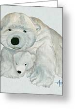 Cuddly Polar Bear Watercolor Greeting Card
