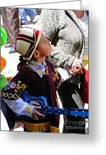 Cuenca Kids 155 Greeting Card by Al Bourassa