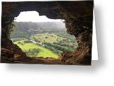 Cueva Ventana Greeting Card