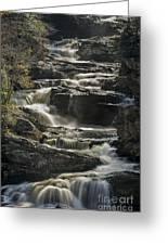 Cullasaja Falls In Autumn Close Up Greeting Card