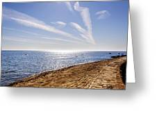 Cullercoats Pier Greeting Card