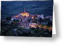 Cultural Heritage Monument Medieval Hilltop Village Of Smartno B Greeting Card