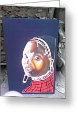 cultural Masaai Woman Greeting Card