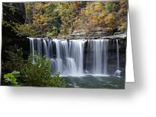 Cumberland Falls In Green Greeting Card