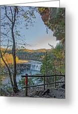 Cumberland Falls Ky From Eagle Falls Trail Greeting Card