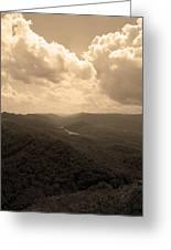 Cumberland Gap - Kentucky Sepia Greeting Card