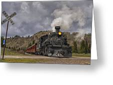Cumbres And Toltec Railroad Crossing Nm Dsc04057 Greeting Card