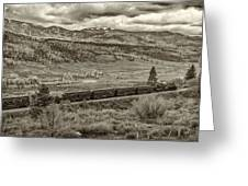 Cumbres Toltec Railroad Nm Sepia Dsc04065 Greeting Card