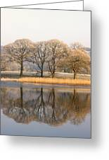 Cumbria, England Lake Scenic With Greeting Card