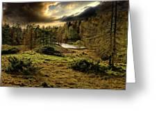 Cumbrian Drama Greeting Card by Meirion Matthias