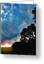 Cumulonimbus Clouds At Sunset Greeting Card
