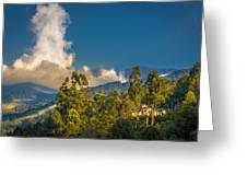 Giant Over The Mountains Greeting Card