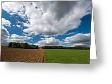 Cumulus Skies In France Greeting Card