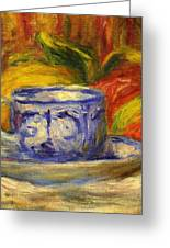 Cup And Fruit Greeting Card