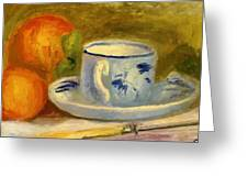 Cup And Oranges Greeting Card