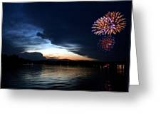 Cup Fireworks Greeting Card