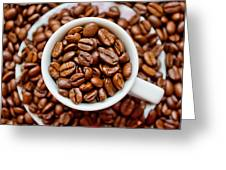 Cup Of Raw Coffee Greeting Card