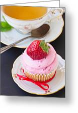 Cupcake With Strawberry Greeting Card