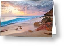 Cupecoy Beach Sunset Saint Maarten Greeting Card