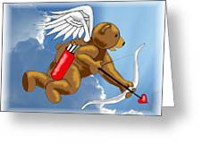 Cupid Bear Greeting Card