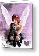 Cupid Greeting Card by Crispin  Delgado