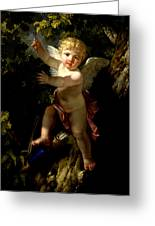 Cupid In A Tree Greeting Card