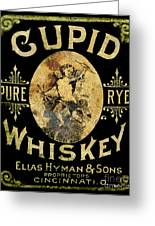Cupid Whiskey Greeting Card