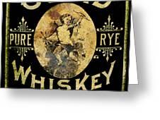 Cupid Whiskey Greeting Card