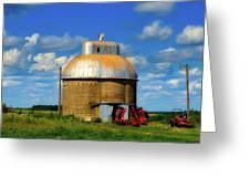 Cupola Grain Silo - Iowa Greeting Card