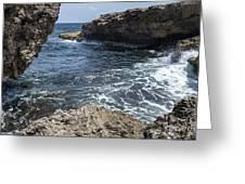 Curacao - Coast At Shete Boka National Park Greeting Card