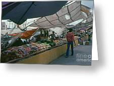 Curacao Market Greeting Card