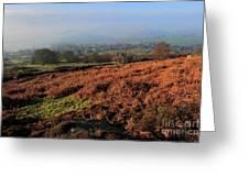 Curbar Edge Curbar Valley Derbyshire Greeting Card