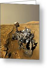 Curiosity Self-portrait At Windjana Drilling Site Greeting Card